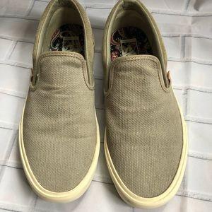 f2ec9f2d3dd798 Vans Shoes - VANS Gray Classic Knit Suede Slip Ons Women sz 9